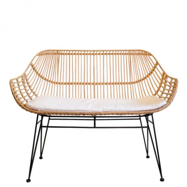 sabah rattan double arm chair<br>(사바 라탄 더블 암체어)