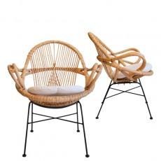 diamond rattan arm chair(다이아몬드 라탄 암체어)