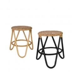 rainbow rattan stool<br>(레인보우 라탄 스툴)